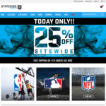 Take 25% off Full Priced Items @ Stateside Sports (Free Shipping over $75, $10 Flat Rate Shipping)