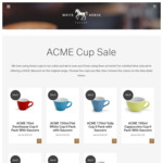 52-64% off Acme & Co Specialty Coffee Cups, 6 Packs with Saucers (+ $9.95 Shipping) @ White Horse Coffee