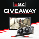Win an EVGA GTX 1080 Graphics Card or Acer 144hz Gaming Monitor (Winner's Choice) from Eszplay