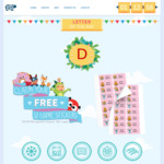 Name Day 2018. Free 32 Personalised Name Stickers from Hippo Blue + $3.99 P+H. Different Letter Daily