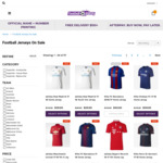 70% off 2017-18 Premier League & European Football Kits: Adults $39.95 (Was $119.95)  Youth $29.95 (Was $100) @ Football Galaxy