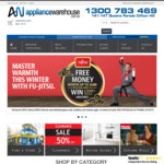 $20 off All Orders over $150 @ Appliance Warehouse