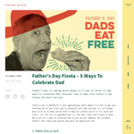 [VIC] Free Main Meal for Dad When Another Main Meal Is Purchased @ Taco Bill on Father's Day. (Excludes Cranbourne & Croydon)