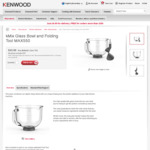 Kmix Glass Bowl and Folding Tool for Kmix KMX754 $39.59 + $9.99 Postage (was $199) at Kenwoodworld.com