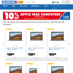 10% off Apple Mac Computers @ The Good Guys (Excludes MacBook Air MQD32X/A)