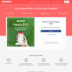 Bonus $10 Cashback & Groupon $5 off Code ($20 Min Spend) for New Sign Ups @ ShopBack