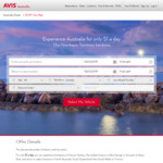 $1/Day Car Rental (Pickup Northern Territory | Drop off Select Locations in SA, South QLD, NSW or VIC) @ Avis