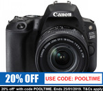 Canon EOS 200D Digital SLR Camera 18-55mm IS STM Single Kit $559.20 Free Delivery @ Camerastore eBay