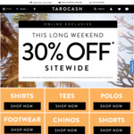 30% off Sitewide (This Long Weekend) @ Tarocash