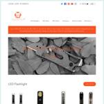 20% off Sale - Aurora A8 LED Flashlight AU $52.96 + Delivery @ Rovyvon