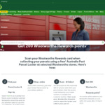 200 Woolworths Rewards Points When Collecting Your Parcels from Woolworths Australia Post Parcel Locker