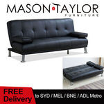 Mason Taylor PU Leather Sleeper Sofa Bed 3 Seater 2 Pillow Recliner $299.99 Delivered (SYD, MEL, BNE, ADL) @ TR Sports eBay