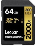 2x 64GB Lexar Professional 2000x SD Cards with Card Readers for $228 Delivered (HK) @ Toby Deals