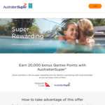 20,000 Qantas Points for Joining Australian Super