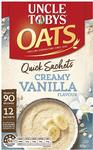 Uncle Tobys Quick Oats 12 Pack Varieties $3 + Delivery (Free with Prime/ $49 Spend) @ Amazon AU