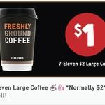 $1 Large 7-Eleven Coffee (Was $2) via 7-Eleven Fuel App