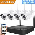 GENBOLT Wireless Security 4 Cameras System (8ch FHD 1080P NVR 960P Waterproof) $269.10 Delivered (10% off) @ Amazon AU