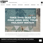 Win Your Holiday Match Worth $2,500 from The Urban List