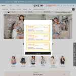 20% off All Orders + Free Shipping on All Orders over $29 @ SHEIN