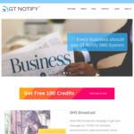 100 Free Credits for SMS Broadcast Campaign @ Gtnotify.com