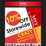 10% off in Store @ MSY