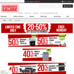 20-50% off Barbeques (Barbeque Master 4 Burner $199), Outdoor Living and More @ Barbeques Galore
