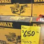 DeWALT 254mm 1850W Table Saw $650 (Was $853) @ Bunnings
