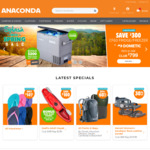 $20 off Orders of $20 or More (Online & in Store) @ Anaconda (Adventure Club Membership Required)