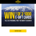 Win 1 of 3 $1,000 eGift Cards from Mountain Designs