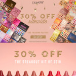 30% off Sitewide + Free International Shipping over $50 USD Spend @ ColourPop