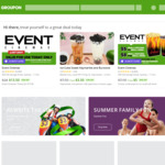 Groupon 15% Cashback @ Cashrewards (Stack with up to 30% off Sitewide @ Groupon)