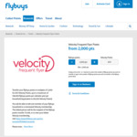 Transfer Your Flybuys Points to Velocity and Receive 15% Bonus Velocity Points