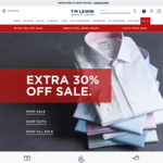 T.M. Lewin Extra 30% off Sale e.g Suits from $125.30, Shirts from $14 (Free Delivery with Orders $150+)