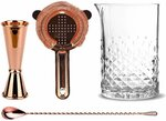 50% off Copper Cocktail Stirring Set $44.99 + $9.95 Shipping ($0 with $120 Spend) @ Cocktail Kit