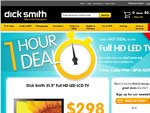 """31.5"""" Full HD LED LCD TV on Sale Today from 7pm-8pm $298 at DickSmith"""