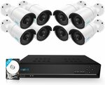 Reolink 16CH 5MP PoE Home Security Camera System w/ 8x IP Cameras + 3TB HDD $919.69 Delivered at Amazon