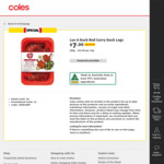 Luv-a-Duck Red Curry Duck Legs 500g $7 (Was $14) @ Coles