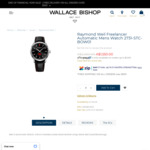 Raymond Weil Freelancer Automatic Mens Watch - David Bowie Limited Edition $1550 Delivered @ Wallace Bishop