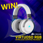 Win a  Corsair Virtuoso RGB Wireless Gaming Headset Worth $369 from PC Case Gear