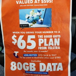 """[VIC] Free 49"""" FHD TV with Telstra Port-in $65 Per Month Plan for 12 Months @ The Good Guys, Melton"""