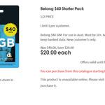 Belong $40 Starter Pack for $20 @ Coles | Belong $25 Starter Pack for $10 @ Woolworths