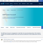 AMP Saver Account 1.25% p.a. Interest (1.45% for Super, Pension, Investment Holders), No Monthly Account Keeping Fee @ AMP