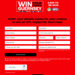 Win Your AFL Team Guernsey from Coca-Cola Amatil [With Purchase from Coles]