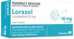 30x Lorazol 10mg Tabs, Hayfever and Allergy Relief (Generic Claratyne / Loratadine Alternate) $7.99 Delivered @ PharmacySavings