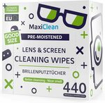 Maxi Clean Lens Wipes 440 Count Pre-Moistened $28.70 (Free with Prime over $49 Spend) @ Amazon US via AU