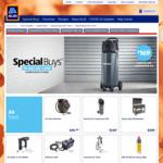 50L Vertical Air Compressor $169, Heavy Duty Workstation $299, Plasma Cutter $299, Air Nailer/Nibbler $40 @ ALDI