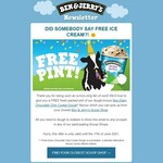 Free Pint of Non-Dairy Chocolate Chip Cookie Dough @ Ben & Jerry's