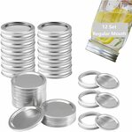 Canning Lids & Rings Set, Regular Mouth Mason Jar Lids & Rings $16.75 + Delivery ($0 with Prime/ $39 Spend) @ TEBCTW Amazon AU