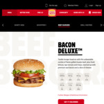 Hungry Jack's Bacon Deluxe Small Meal $6 (App Required)