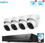 Reolink 820D4-A 8 Channel DVR with 4 Dome Cameras US$485.57 / A$642.03 Delivered @ Reolink Direct Store AliExpress